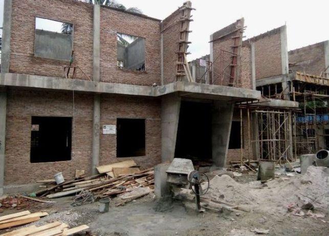 Gedung baru Satpol PP Kota Siantar yang sedang dibangun.