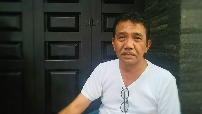 Ketua DPD Golkar Simalungun Timbul Jaya Sibarani, di kediamannya, Rabu (21/8/2019). (isiantar/nda).