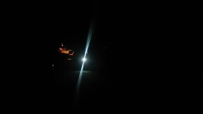Suasana jalan di jarak sekitar 200 meter menuju open stage, Sabtu malam (24/8/2019). (isiantar/nda).