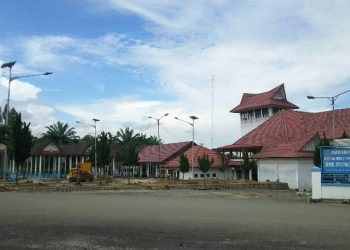 Gerbang masuk Terminal Tanjung Pinggir di Kecamatan Siantar Martoba, Selasa (3/12/2019). (isiantar/nda).