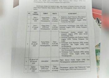 Jadwal sidang DPRD Siantar terkait hak angket.