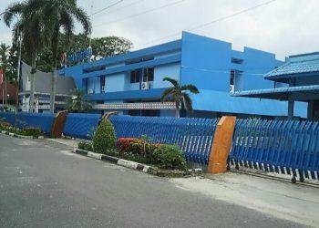 Gedung PDAM Tirtauli di Jalan Porsea nomor 2, Kota Pematangsiantar. (isiantar/nda).