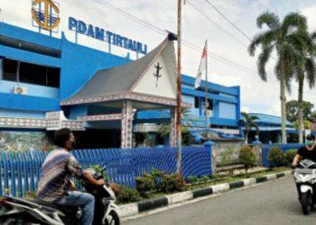 Kantor PDAM Tirtauli di Jalan Porsea nomor 2, Pematangsiantar. (isiantar/nda).