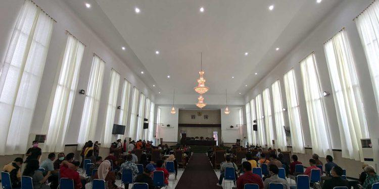 Suasana sidang paripurna DPRD Siantar, di Gedung Harungguan, Jumat sore (29/1/2020). (isiantar/nda).