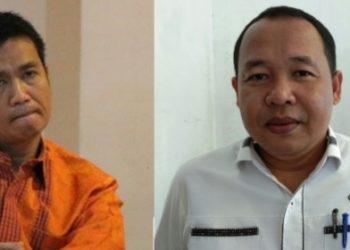 Walikota Siantar, Hefriansyah (kiri), Ketua DPRD Kota Siantar, Timbul Lingga (kanan).